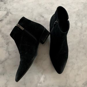 AQUATALIA Leather Suede Ankle Western Booties